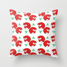 Fox Triangles Throw Pillow