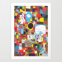 Microcosm Collage Art Print