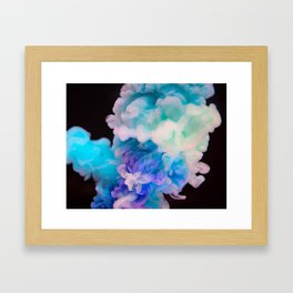 Colorful Smoke Explosion Framed Art Print