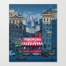 The shop of happiness Canvas Print