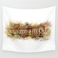 theatre Wall Tapestries featuring Slowacki Theatre, Cracow by jbjart