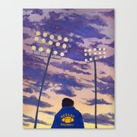 friday night lights Canvas Prints featuring Friday Night Lights by colleentighe
