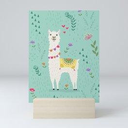 Festive Llama Mini Art Print