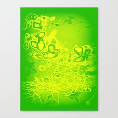 Green & Yellow Abstract Canvas Print