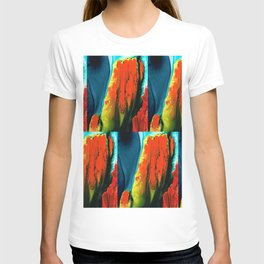 Red Abstract Modern Art - A Little Lava - Sharon Cummings T-shirt