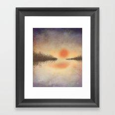 Dusk on the Lake Framed Art Print