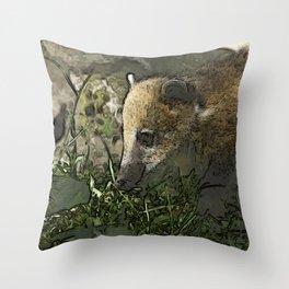 toony coati Throw Pillow