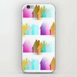 Rows Of Colored Houses iPhone Skin