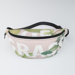 Leaves of Grass, Walt Whitman, book cover illustration, american poetry collection, flowers art Fanny Pack