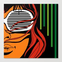 lips Canvas Prints featuring Lips by David Navascues