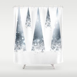 Geometric Winter Shower Curtain