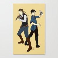 bioshock infinite Canvas Prints featuring Bioshock Infinite by Slythermint