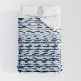 Glitch Waves - Classic Blue Duvet Cover
