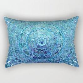 Frozen Oval Mandala Rectangular Pillow