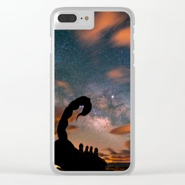 Milky Way over Scorpion, Borrego Springs, CA Clear iPhone Case