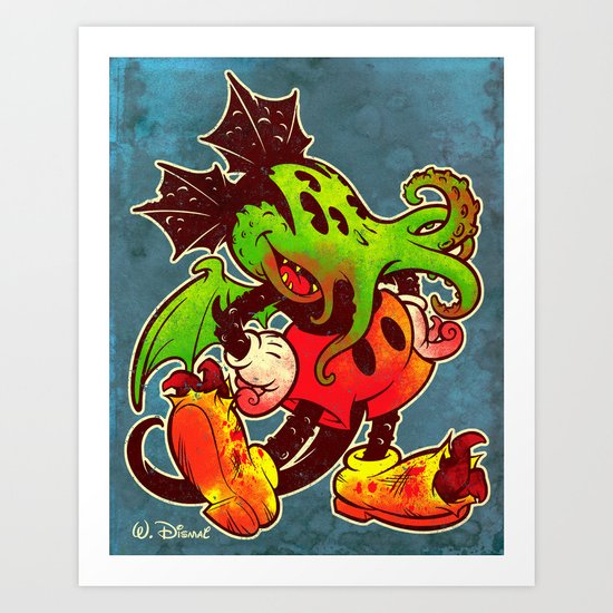 MICKTHULHU MOUSE (color) Art Print