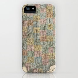 Vintage Map of Iowa (1875) iPhone Case