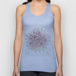 Big Succulent Watercolor Unisex Tank Top