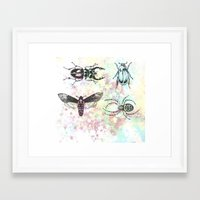 bugs Framed Art Prints featuring Bugs! by Maria Enache