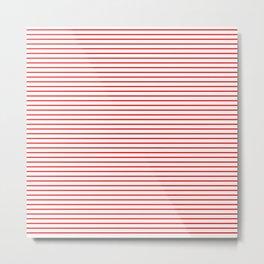 Thin Red Lines Horizontal Metal Print
