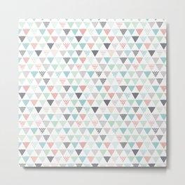 Geometric pastel triangle scandinavian style aztec print Metal Print