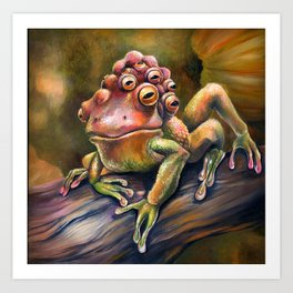 Three-Toed Frog Art Print