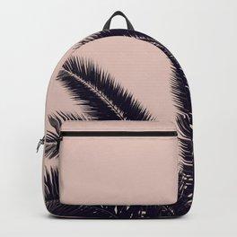 FESTIVAL SUMMER - PALM TREE ROSE BLACK Backpack