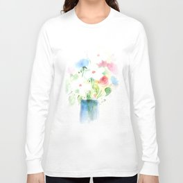 Watecolor Bouquet Long Sleeve T-shirt