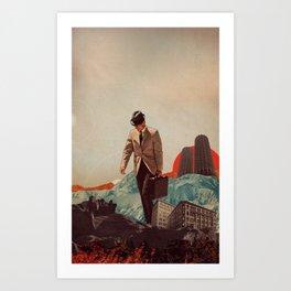 Leaving Their Cities Behind Art Print