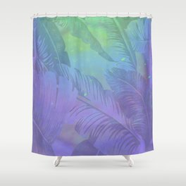Rainbow in Palms Shower Curtain