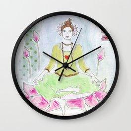 Lotus Girl Wall Clock