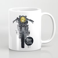 cafe racer Mugs featuring Moto - cafe racer by dareba