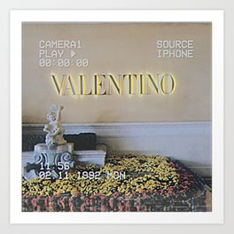 Valentino Digital Lense Art Print