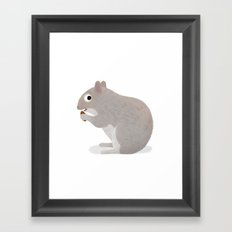 A Tailless Squirrel Framed Art Print