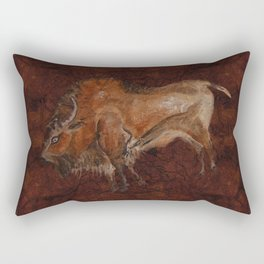 Paleolithic Bison Cave Painting Rectangular Pillow