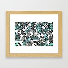 BIRDS IN THE PARK Framed Art Print
