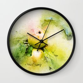 Apples watercolor Wall Clock