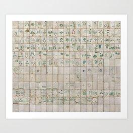 The Complete Voynich Manuscript - Natural Art Print