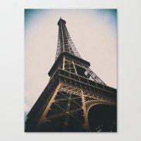 eiffel tower Canvas Prints featuring Eiffel Tower by Christine Workman