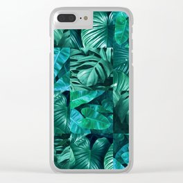 Plant collage XI Clear iPhone Case