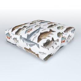 A Few Freshwater Fish Outdoor Floor Cushion