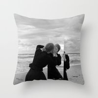 mirror Throw Pillows featuring Mirror by Bird Heart