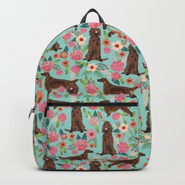 Irish Setter dog breed floral pattern gifts for dog lovers irish setters Backpack