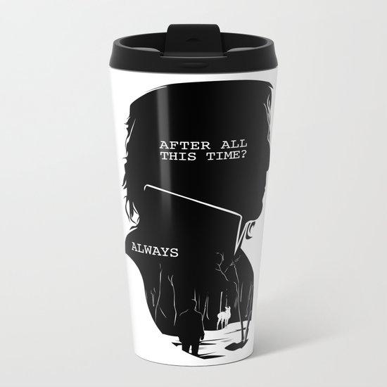 Snape - Quote Silhouette Metal Travel Mug