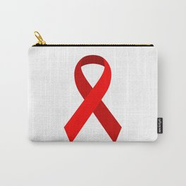 Red Awareness Support Ribbon Carry-All Pouch
