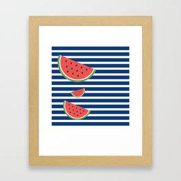 Juicy Melon Framed Art Print