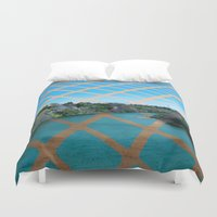 river Duvet Covers featuring River by Last Call