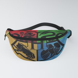 Wizard School House Crest HP Fanny Pack