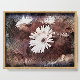 gerbera daisy on texture background Serving Tray