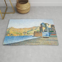 "Paul Signac ""The Town Beach, Collioure, Opus 165"" Rug"